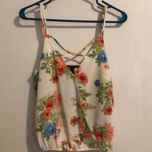 Small Floral Forever 21 Tank